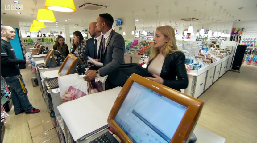 Screenshot from BBC One's The Apprentice