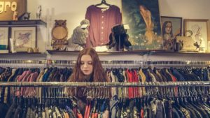 photo of woman clothes shopping