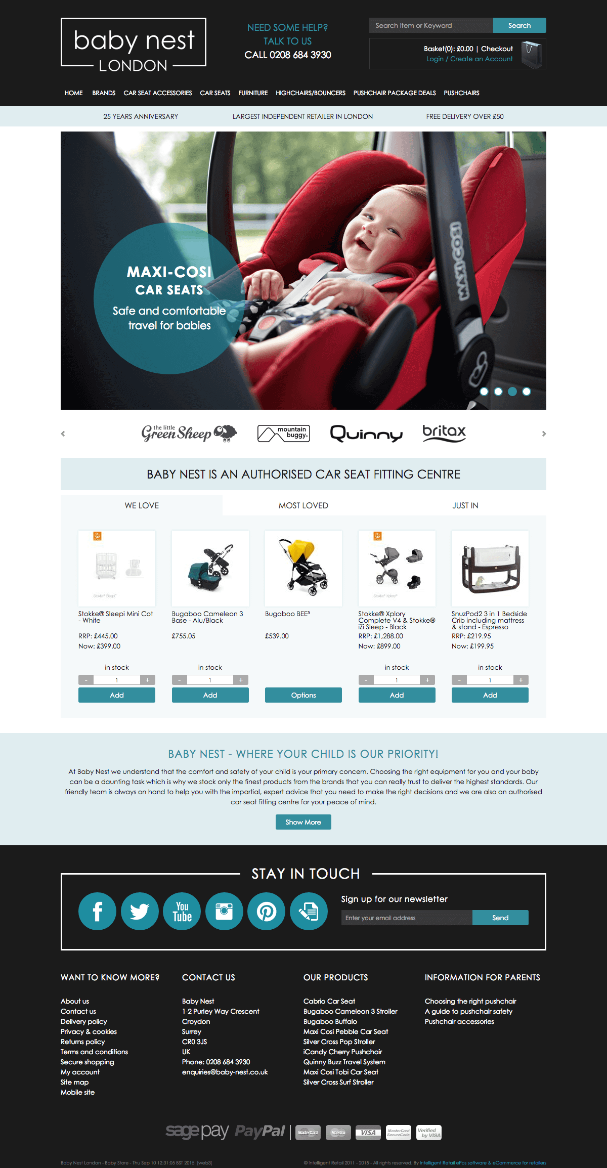 Baby Nest - Home page