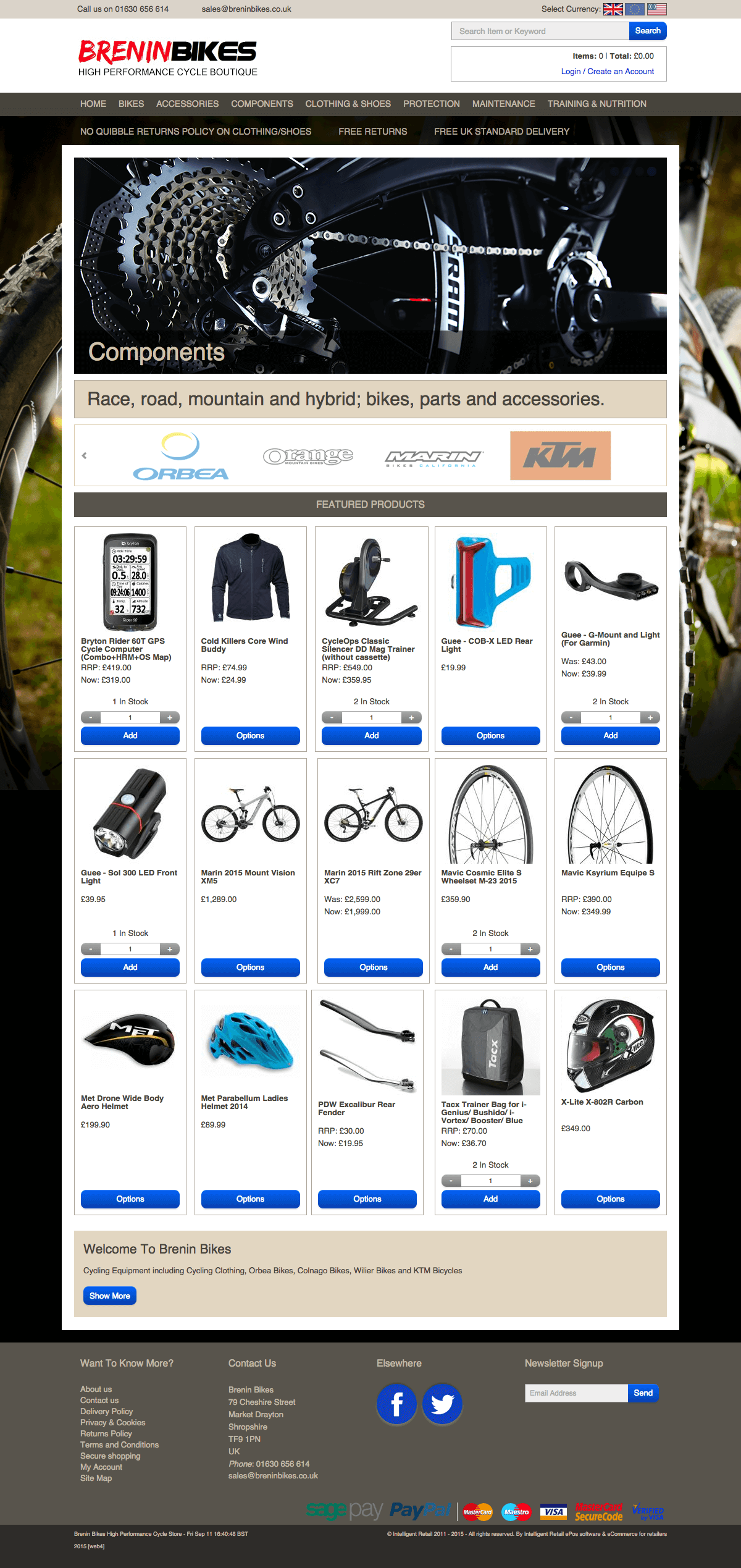 Brenin Bikes - Home page