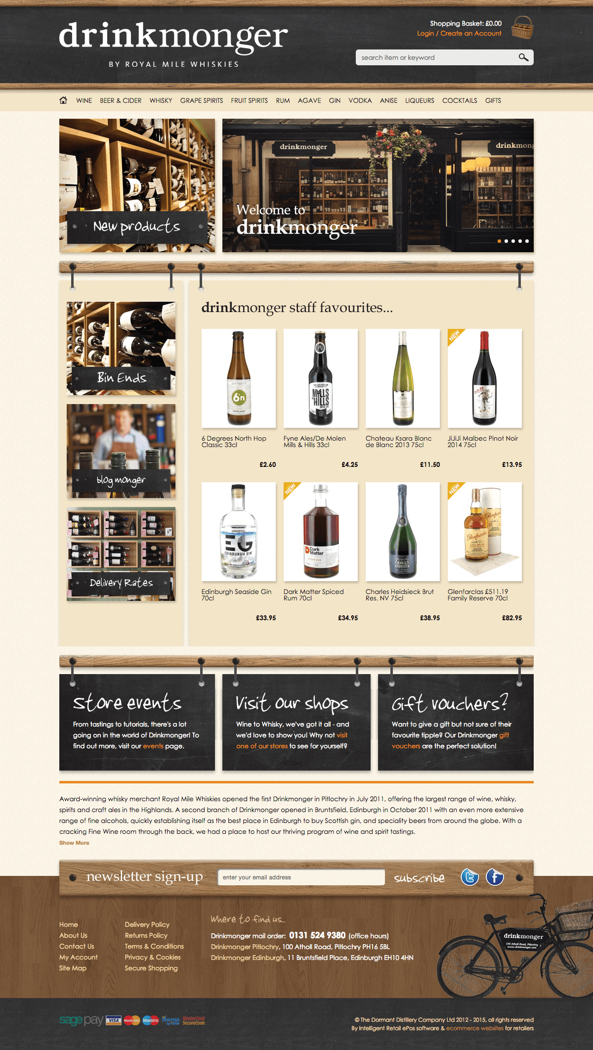 Drink Monger - Home page