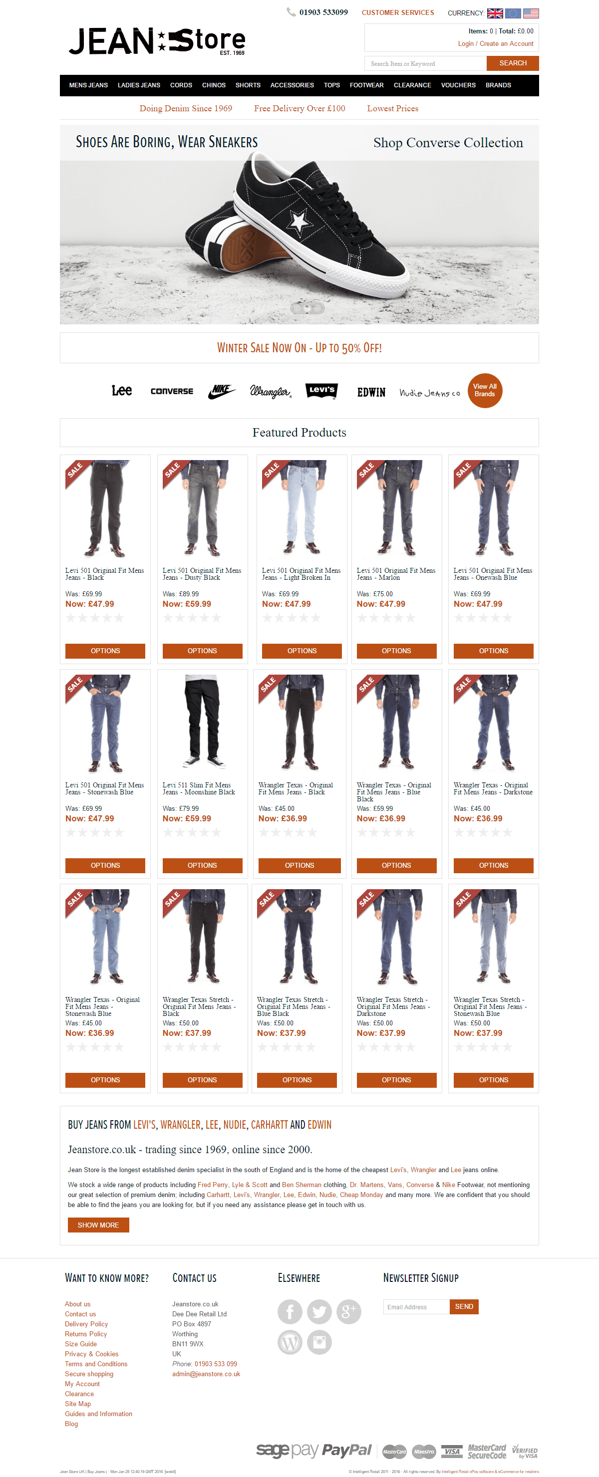 Jean Store - Home page