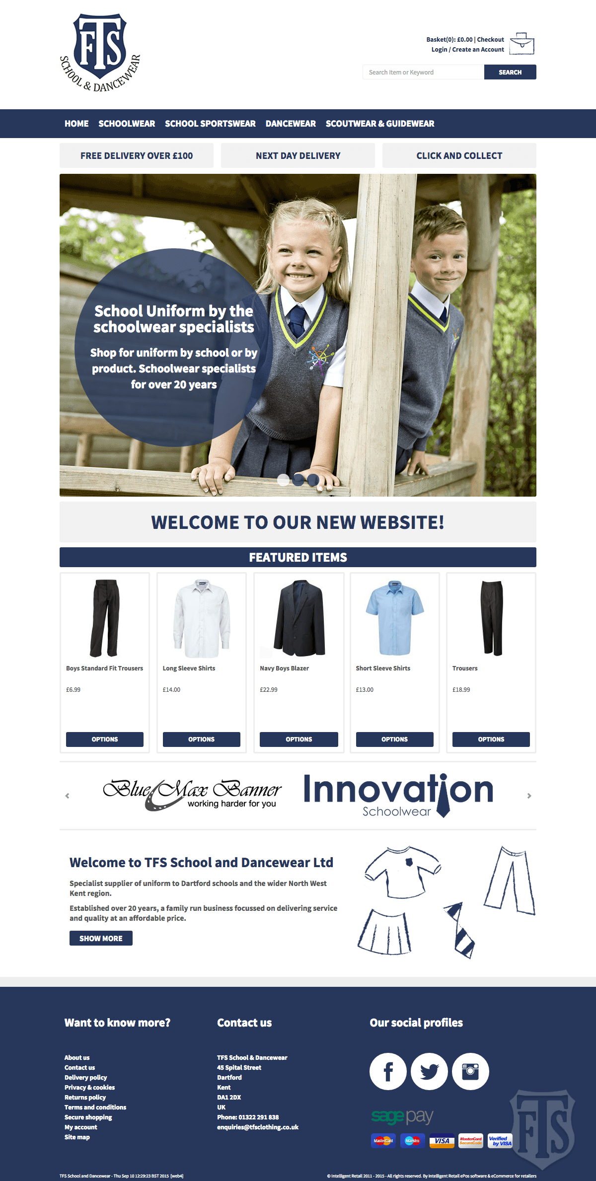 TFS Schoolwear - Home page